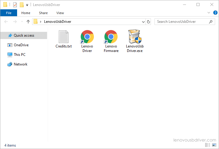 Lenovo USB Driver Files