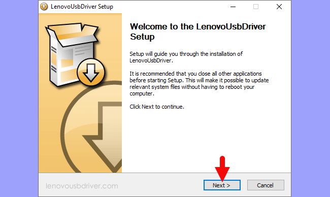 Lenovo USB Driver Setup